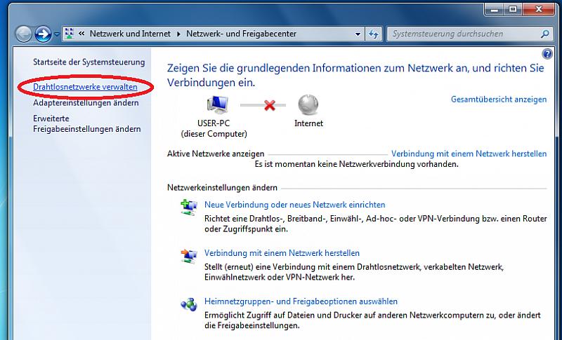 verfügbare netzwerke anzeigen